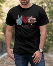 Peace Love America Classic T-Shirt apparel-classic-tshirt-lifestyle-front-53