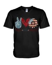 Peace Love America V-Neck T-Shirt thumbnail