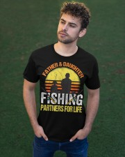 Fisherman Dad and Daughter Fishing Partners  Classic T-Shirt apparel-classic-tshirt-lifestyle-front-43