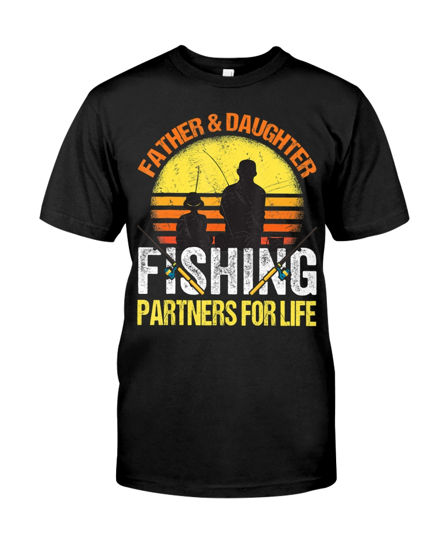 Fisherman Dad and Daughter Fishing Partners  Classic T-Shirt