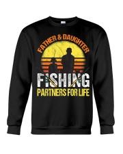 Fisherman Dad and Daughter Fishing Partners  Crewneck Sweatshirt thumbnail
