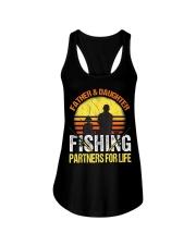 Fisherman Dad and Daughter Fishing Partners  Ladies Flowy Tank thumbnail