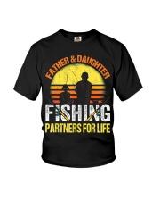 Fisherman Dad and Daughter Fishing Partners  Youth T-Shirt thumbnail