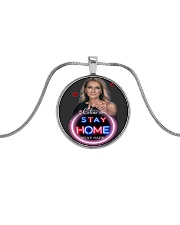 DION STAY HOME Metallic Circle Necklace thumbnail