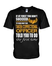 STICKER TAKEN CORRECTIONAL OFFICER V-Neck T-Shirt thumbnail