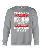 Telling an Angry Redhead Crewneck Sweatshirt tile