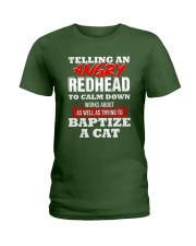 Telling an Angry Redhead Ladies T-Shirt thumbnail