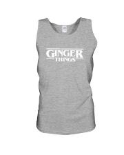 Ginger things white Unisex Tank thumbnail