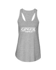 Ginger things white Ladies Flowy Tank thumbnail