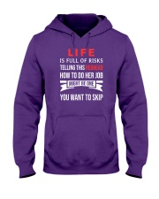 Life is full of risk Hooded Sweatshirt thumbnail