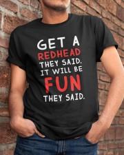 Get a Redhead they said Classic T-Shirt apparel-classic-tshirt-lifestyle-26