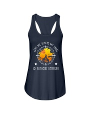 Lead me where my trust is without borders Ladies Flowy Tank thumbnail