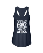Stuck between save money and go to Africa Ladies Flowy Tank thumbnail