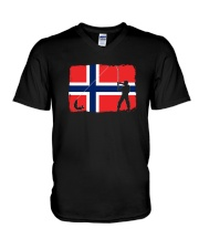 Norway Fishing  V-Neck T-Shirt thumbnail