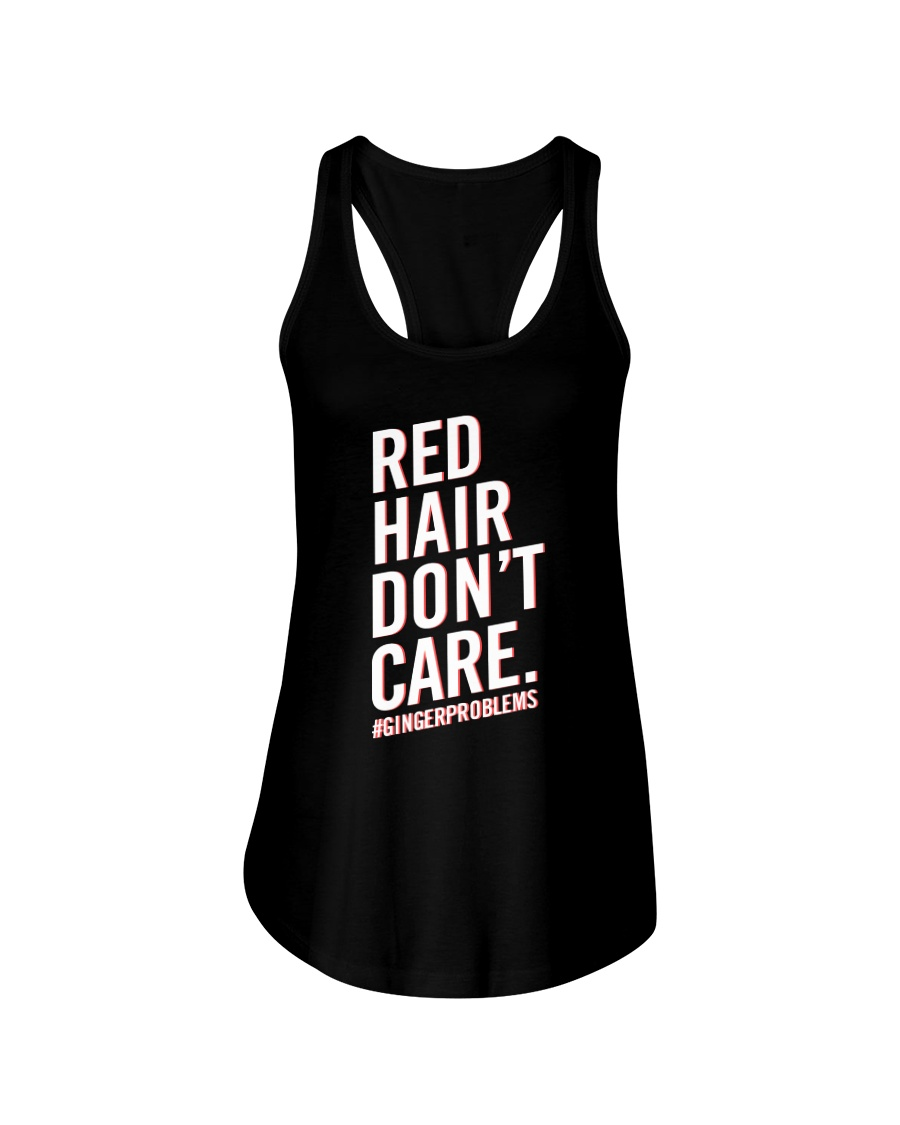 Red hair don't care Ladies Flowy Tank