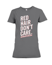 Red hair don't care Premium Fit Ladies Tee thumbnail