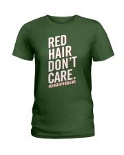 Red hair don't care Ladies T-Shirt thumbnail