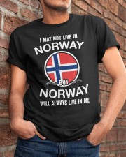 Norway will always live in me  Classic T-Shirt apparel-classic-tshirt-lifestyle-26