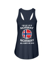 Norway will always live in me  Ladies Flowy Tank thumbnail