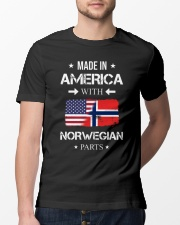America-Norwegian parts Classic T-Shirt lifestyle-mens-crewneck-front-13