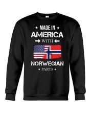 America-Norwegian parts Crewneck Sweatshirt thumbnail