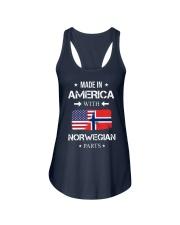 America-Norwegian parts Ladies Flowy Tank thumbnail