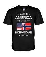 America-Norwegian parts V-Neck T-Shirt thumbnail