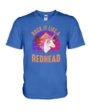 Rock it like a Redhead V-Neck T-Shirt thumbnail