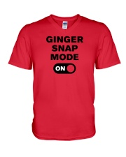 Redhead-mode-on V-Neck T-Shirt thumbnail