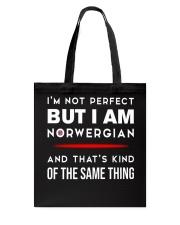 I'm not perfect but I am Norwegian Tote Bag thumbnail