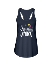 My heart beats for Africa Ladies Flowy Tank thumbnail