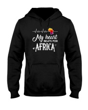 My heart beats for Africa Hooded Sweatshirt thumbnail