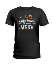 My heart beats for Africa Ladies T-Shirt thumbnail