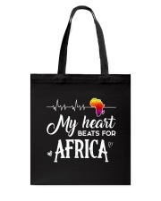 My heart beats for Africa Tote Bag thumbnail