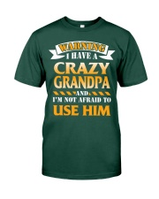 Crazy Grandpa Premium Fit Mens Tee front