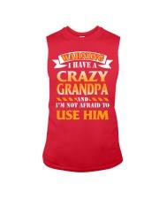Crazy Grandpa Sleeveless Tee front