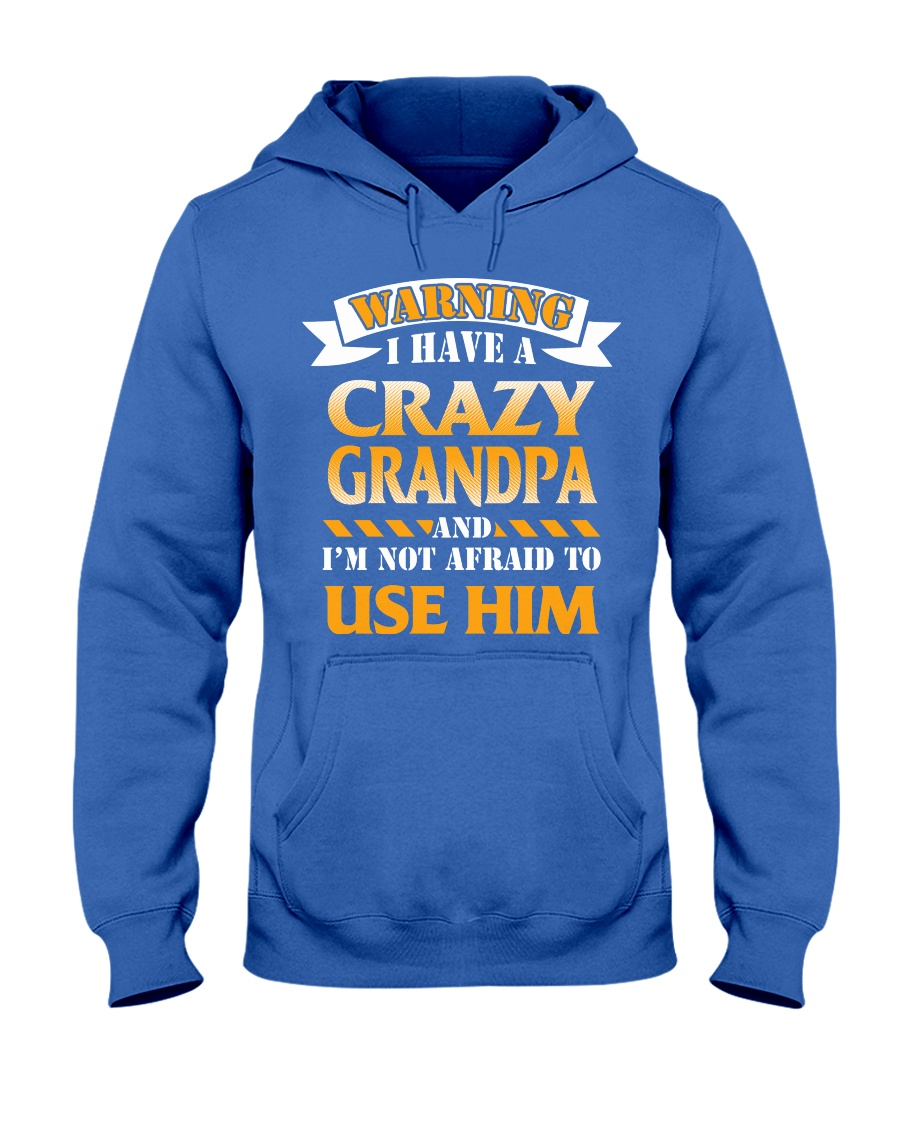 Crazy Grandpa Hooded Sweatshirt