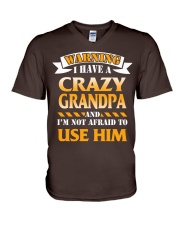 Crazy Grandpa V-Neck T-Shirt front