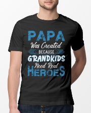 Papa Was Created Because Grandkids Classic T-Shirt lifestyle-mens-crewneck-front-13