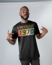 50th Birthday Gift Idea Vintage 1970 Classic T-Shirt apparel-classic-tshirt-lifestyle-front-32
