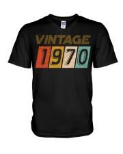 50th Birthday Gift Idea Vintage 1970 V-Neck T-Shirt thumbnail