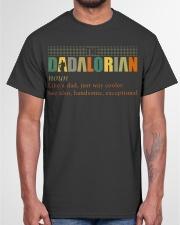 The Dadalorian Definition Like A Dad Classic T-Shirt garment-tshirt-unisex-front-03