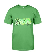 St Patrick's Day With Peace Love Shamrock Premium Fit Mens Tee tile