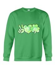 St Patrick's Day With Peace Love Shamrock Crewneck Sweatshirt tile