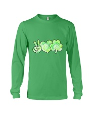 St Patrick's Day With Peace Love Shamrock Long Sleeve Tee tile