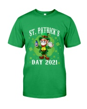 St Patrick's Day With Vaccine Classic T-Shirt front