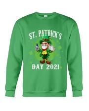 St Patrick's Day With Vaccine Crewneck Sweatshirt tile