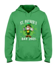 St Patrick's Day With Vaccine Hooded Sweatshirt tile