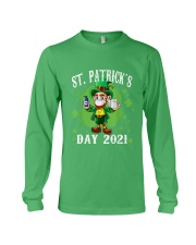 St Patrick's Day With Vaccine Long Sleeve Tee tile