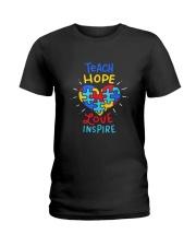 Teach Hope Love Inspire Ladies T-Shirt front